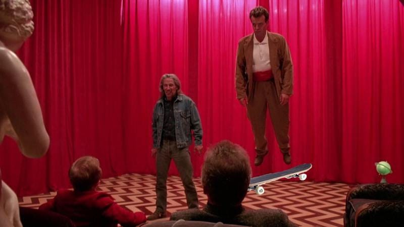Illustration for article titled The ollies are not what they seem: Twin Peaks gets a skateboard line