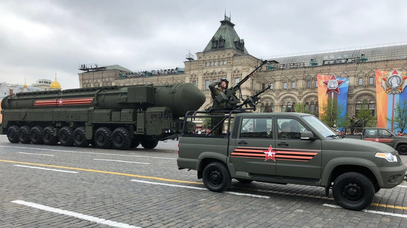 Russian Yars mobile nuclear missile.