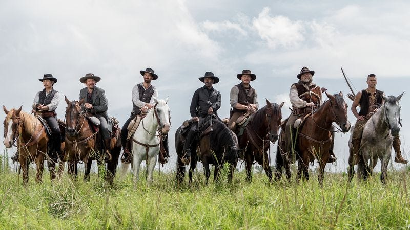 *whispers to date* That's The Magnificent Seven. (Photo: Columbia Pictures)