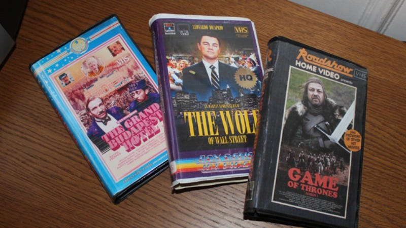 Illustration for article titled Some dude has created VHS covers for modern movies and TV shows
