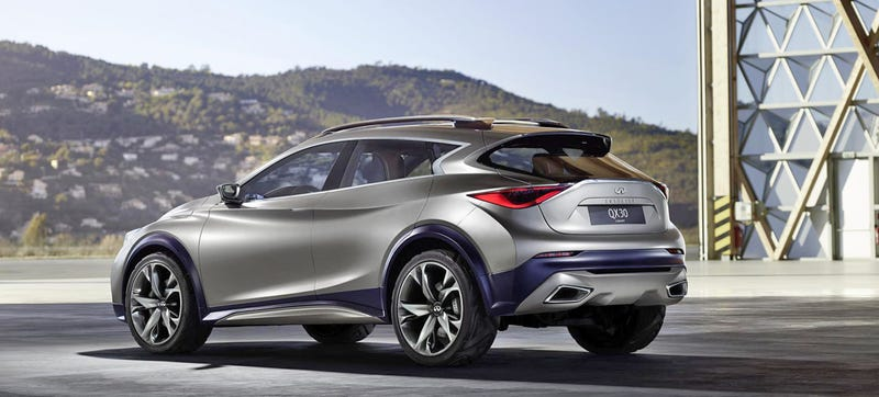 Illustration for article titled The Infiniti QX30 Concept Gains Some Ride Height, Looks Kind Of Badass