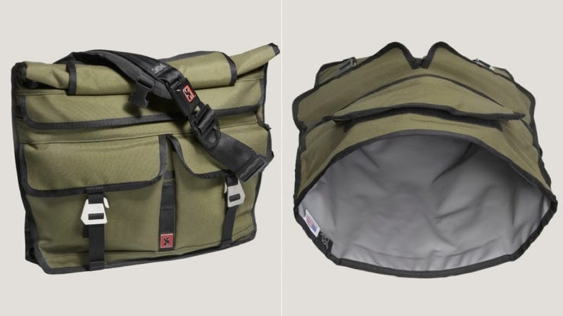 Illustration for article titled A Rolltop Messenger Bag That's Military-Tough