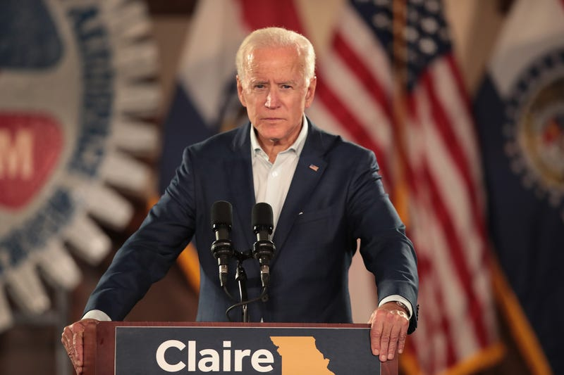 Former Vice President Joe Biden speaks to supporters of Senator Claire McCaskill at a 'get out the vote' rally on October 31, 2018 in Bridgeton, Missouri.