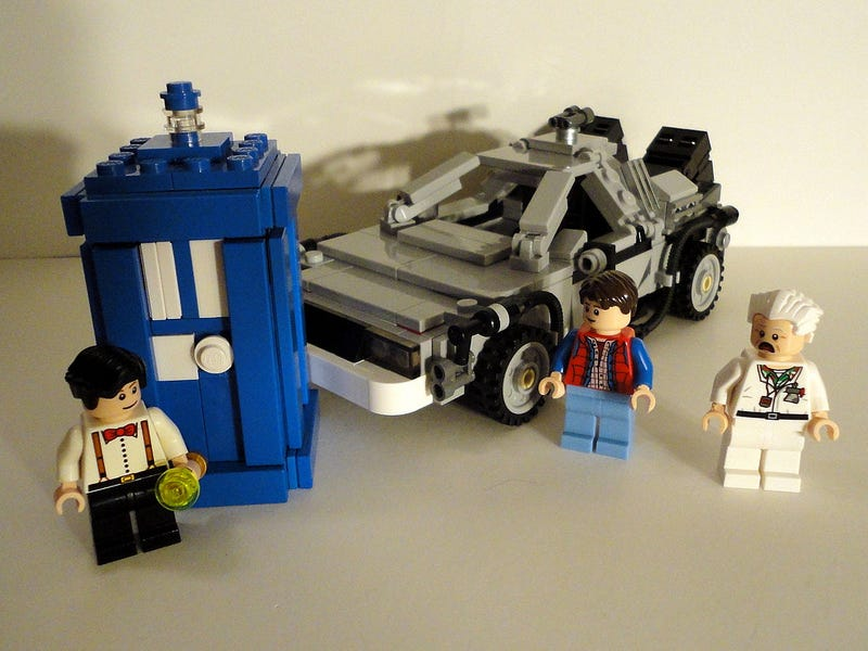 Illustration for article titled I sure have been enjoying the BttF LEGO set