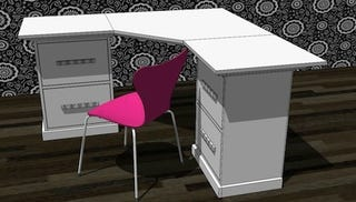 Illustration for article titled Build an $800 Corner Desk for Less than $50