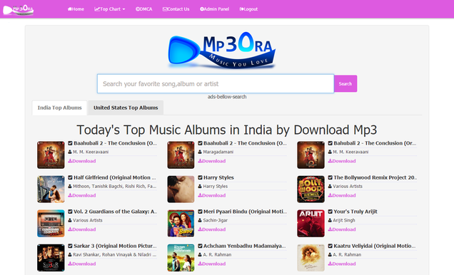 mp3 search engine php script