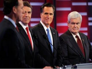 GOP candidates debate. (Kevork Djansezian/Getty Images)