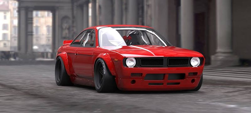 Illustration for article titled New Bodykit Puts Plymouth Barracuda Face On A '90s Nissan