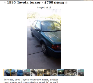 """Illustration for article titled What's this """"Toyota Tercer"""" I keep seeing on Craigslist?"""