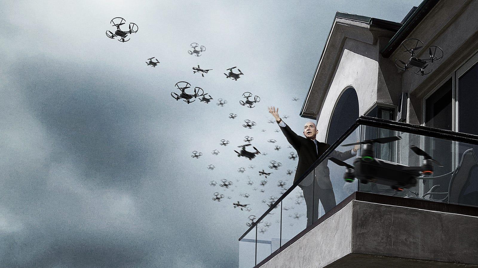 'Fly, My Pretties,' Says Jeff Bezos Releasing Swarm Of Amazon Drones To Hunt Down Nude Photos