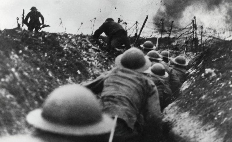 Image result for trench attacks ww1