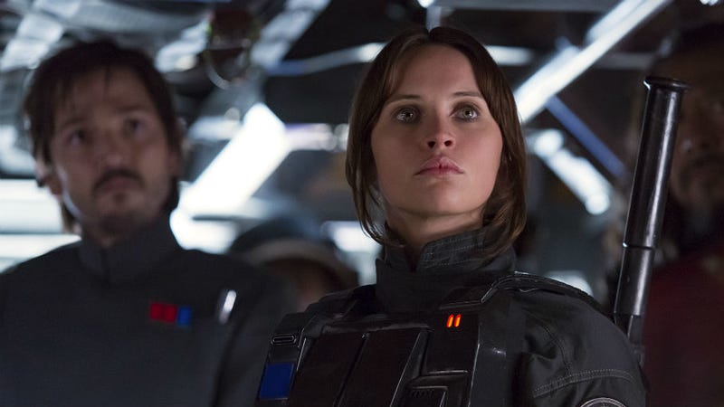 Cassian Andor and Jyn Erno suit up in Rogue One: A Star Wars Story.