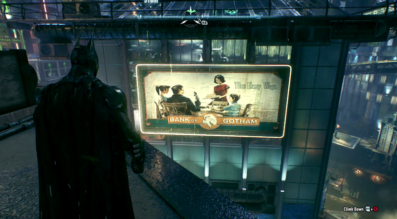Illustration for article titled You Should Take A Closer Look At Arkham Knight's Billboards