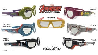 Illustration for article titled What 3D Movies Have Really Been Missing Is Avengers-Themed Glasses