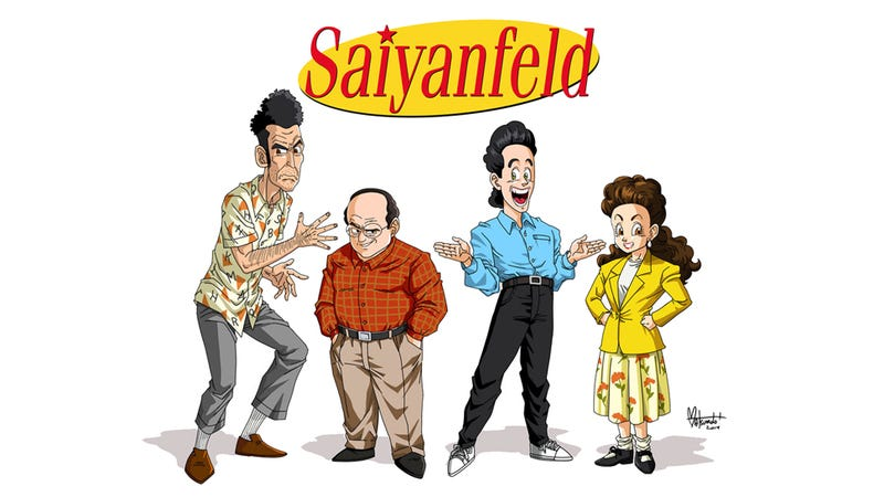 Illustration for article titled The Cast of Seinfeld as Dragon Ball Characters
