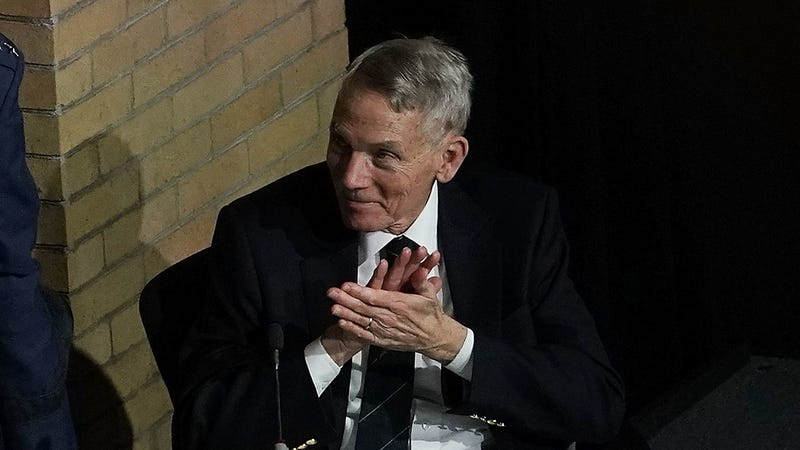 William Happer at a 2018 National Space Council event.