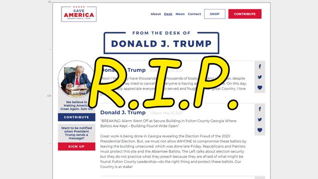 Trump Deplatforms Himself