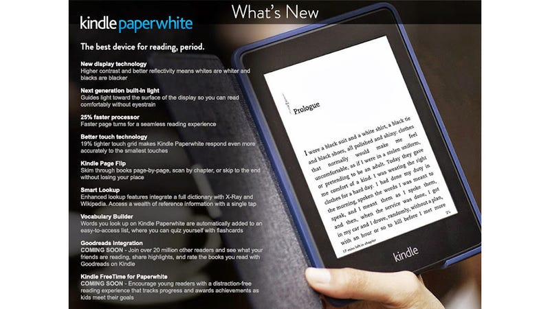 Illustration for article titled Amazon Accidentally Leaks New Kindle Paperwhite and Sept. 30 Ship Date