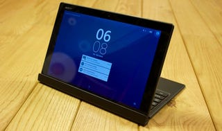 Illustration for article titled Xperia Z4 Tablet: Slick and Slim, With Laptop Aspirations