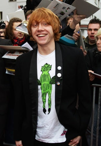 Illustration for article titled Rupert Grint Now Studying Defense Against The Swine Flu