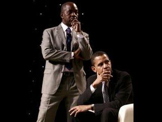 Charles Ogletree and President Barack Obama (Louis Myrie)