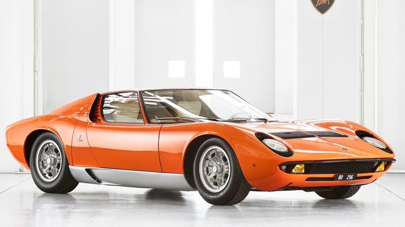 Illustration for article titled Miura in 'The Italian Job' Found After Decades in Obscurity and Restored By Lamborghini
