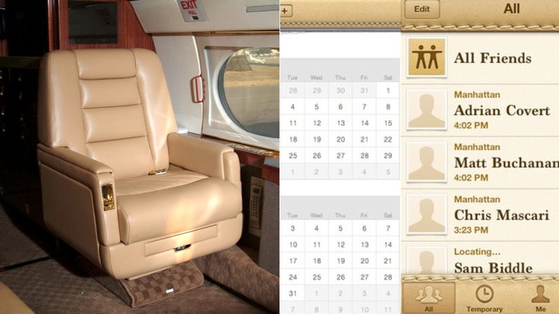 Illustration for article titled Apple's Hideous Leather Software Is Based on Steve Jobs' Private Jet