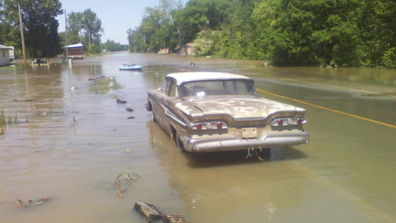 Illustration for article titled Arkansas flooding claims an Edsel