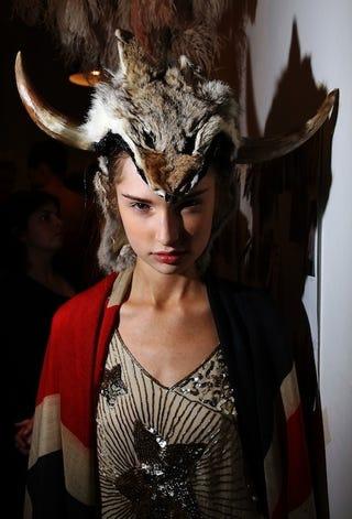 Illustration for article titled Fierce Fur Backstage At Sydney Fashion Festival
