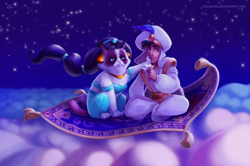 Illustration for article titled Grumpy Cat as Disney Princesses Is the New End of the Internet