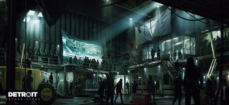 Detroit Become Human Concept Art City