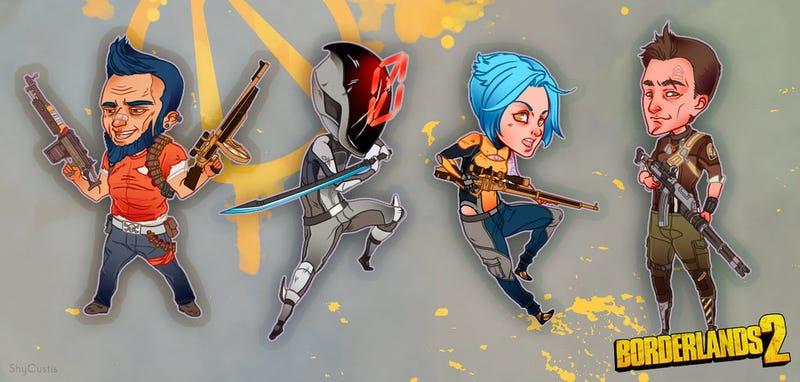 Illustration for article titled Borderlands, Bioshock, And Legend Of Zelda Stickers