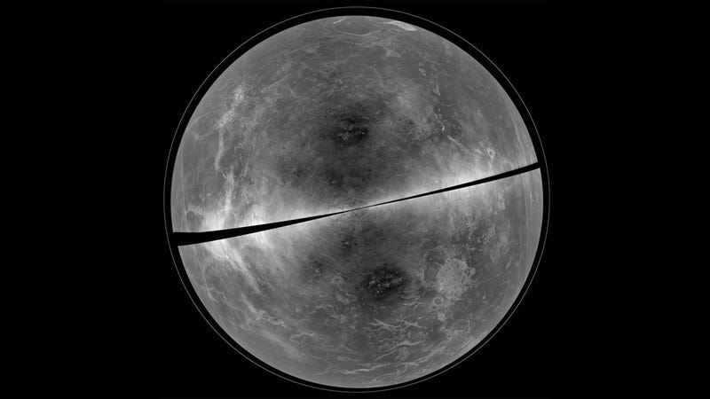 Illustration for article titled This Is How Venus Would Look Without Its Thick Layer of Clouds