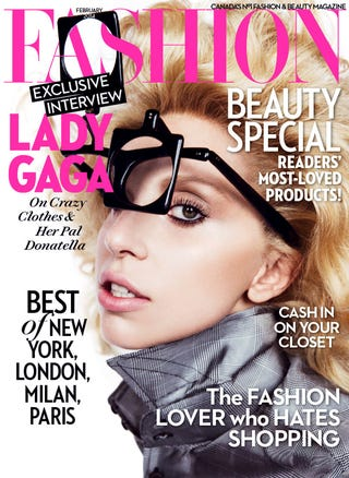 Illustration for article titled Lady Gaga Is A Blade Runner Optometrist For Fashion Magazine Cover
