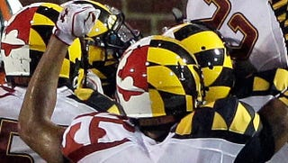 Illustration for article titled Maryland's Football Helmets Are Awesome, And They Didn't Rip Off A Bunch Of Roller Derby Girls