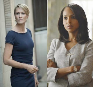 Illustration for article titled A Feminist Character ≠ A Character Who Is A Feminist: Examining Claire Underwood and Olivia Pope