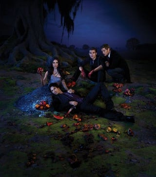 Illustration for article titled The Vampire Diaries promo poster