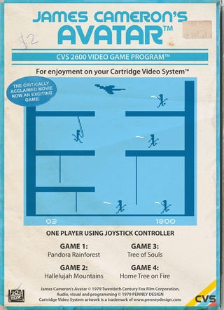 Illustration for article titled Avatar, The Videogame (Atari 2600 Edition)