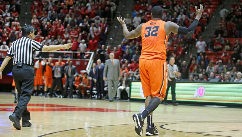 Illustration for article titled Oregon State Forward Suspended At Least Four Games For Tripping Ref