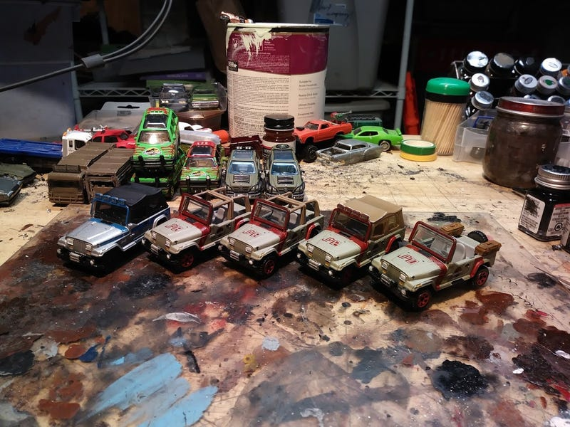 Illustration for article titled Jurassic Fleet part 3, some finished vehicles.