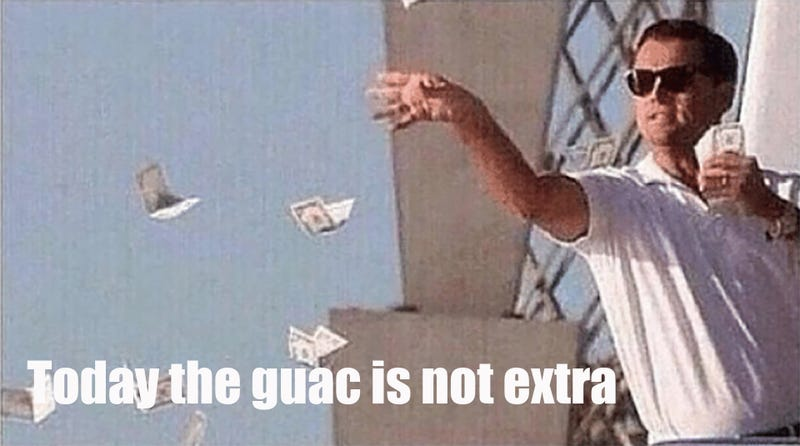 Illustration for article titled The guac is not extra at Chipotle today