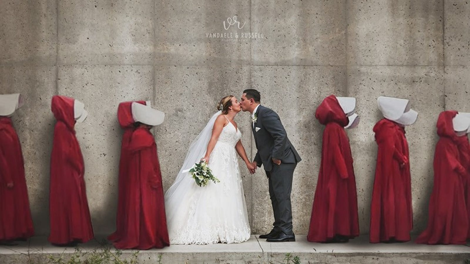 Is This Handmaid's Tale Wedding Portrait Too On the Nose?