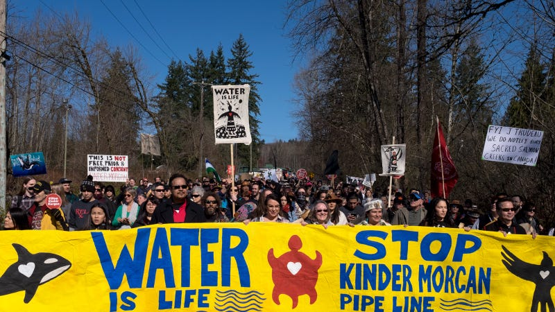 An estimated 10,000 peaceful protesters took the streets of Burnaby, British Columbia on March. Since then, actions have escalated with arrests and a blockade.