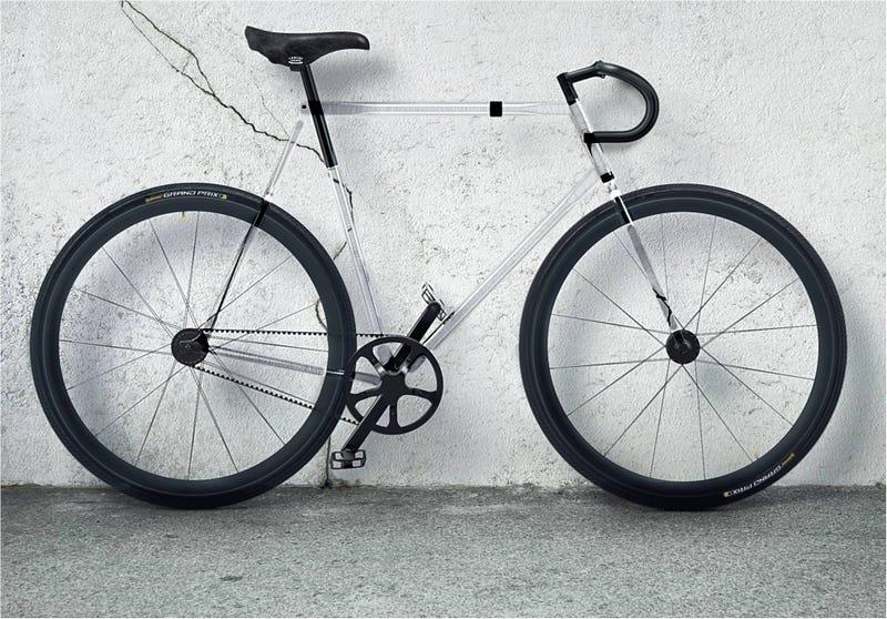 Illustration for article titled Clarity Bike, la bici transparente hecha de un material (casi) irrompible