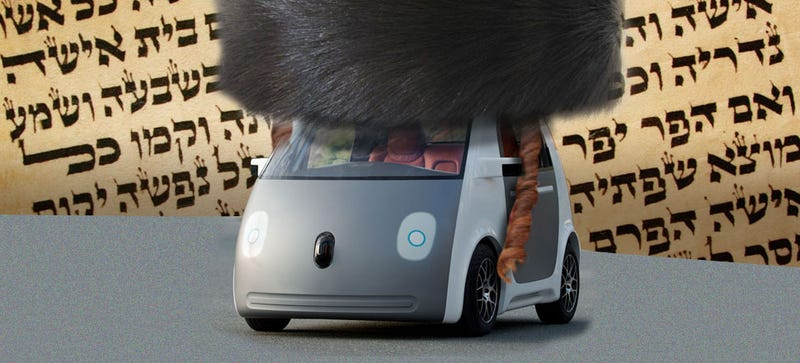 Illustration for article titled Is Using A Self-Driving Car Kosher For Shabbat?
