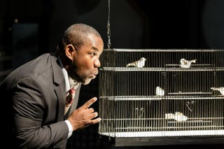 Tenor Lawrence Brownlee as Charlie Parker in the world premiere of the opera Charlie Parker's YardbirdDominic M. Mercier