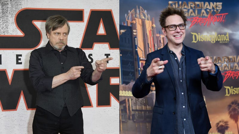 Illustration for article titled Mark Hamill and James Gunn are neighbors and maybe friends now