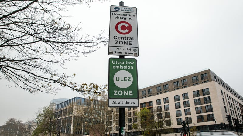 These signs let drivers know they're entering the new ultra-low emissions zone.