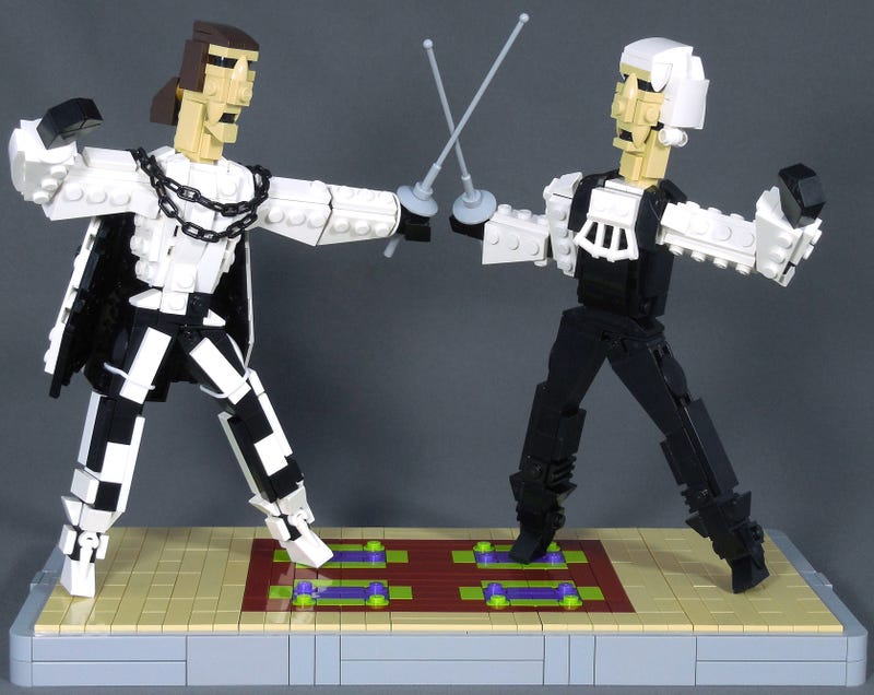 Illustration for article titled Scaramouche in brick reminds me why sword fights are so awesome