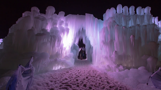 Timelapse shows how thousands of icicles turn into a frozen fortress